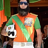 Sacha Baron Cohen as The Dictator made his entrance at the Cannes Film Festival.