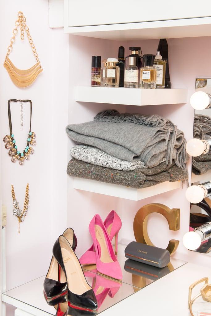 Arrange fashion pieces in stylised vignettes.
