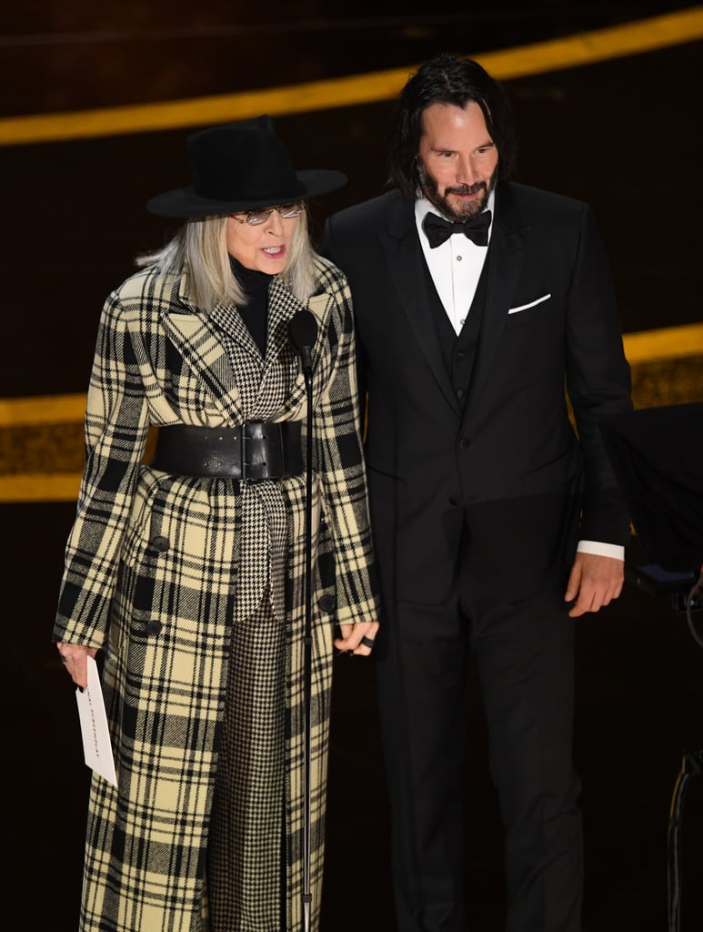 Diane Keaton and Keanu Reeves at the 2020 Oscars
