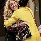 AnnaSophia Robb and Freema Agyeman embraced on the set of The Carrie Diaries in NYC.