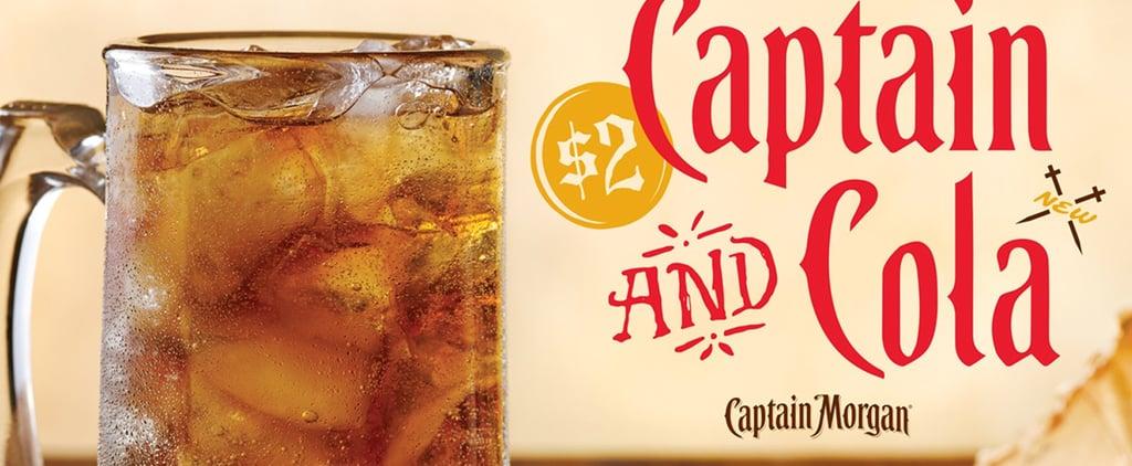 Applebee's $2 Captain and Cola January 2019