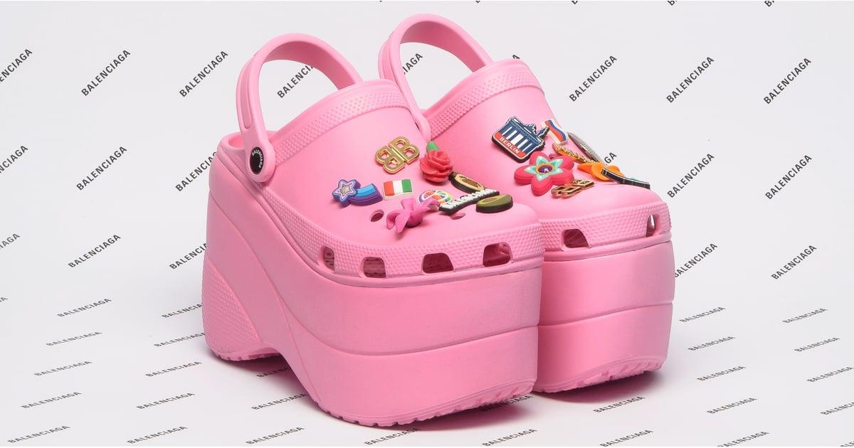 "Balenciaga's Platform Crocs Beg the Question, ""What Are Those?"""