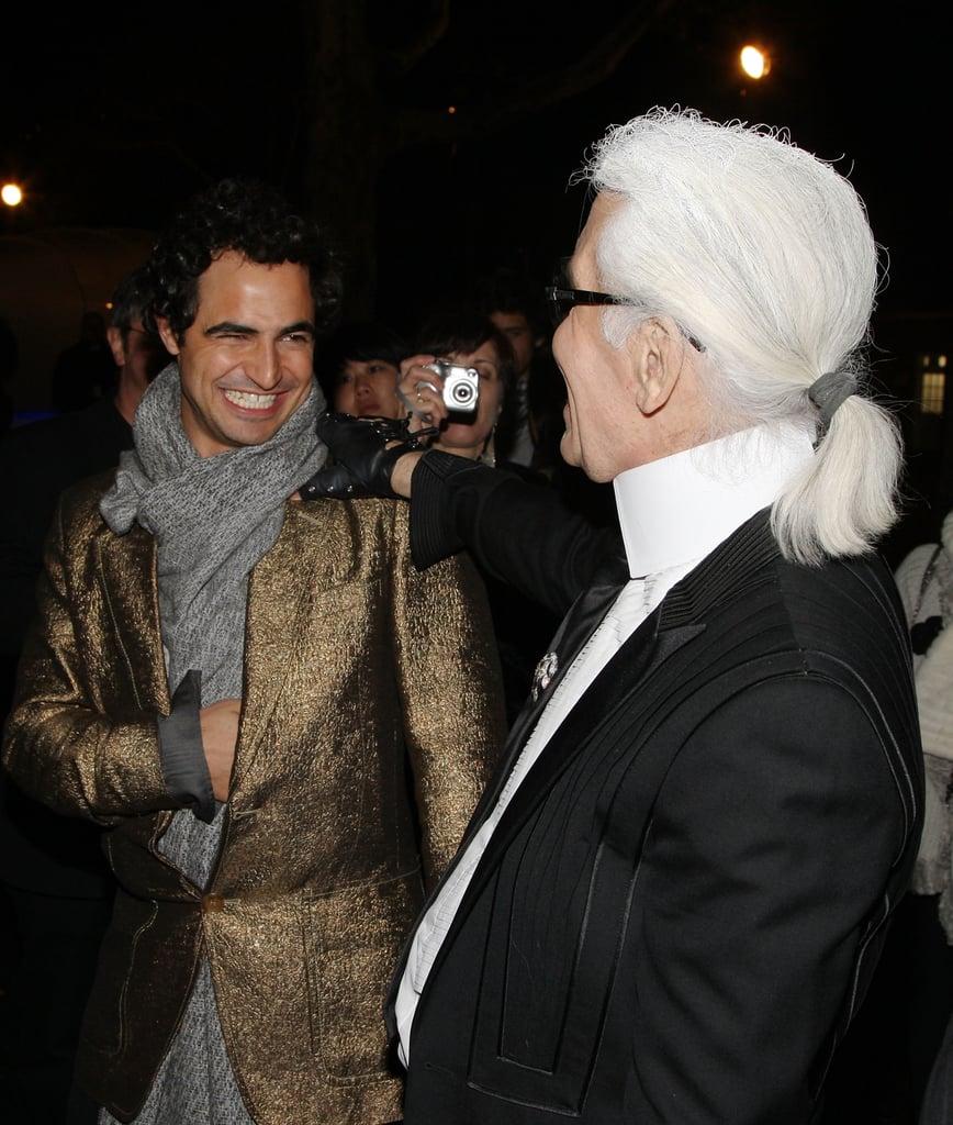Zac Posen, Karl Lagerfeld.