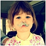 Harper Smith got in on the mustache trend over the weekend. Source: Instagram user tathiessen