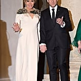 Brigitte Macron's Louis Vuitton Dress at State Dinner