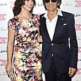 Sally Humphries and Ronnie Wood stepped out for Naomi Campbell's Fashion for Relief charity dinner in London.