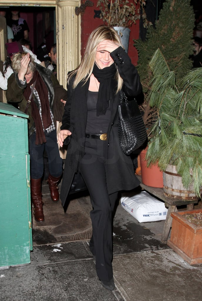 Pictures of Jennifer Aniston Leaving Her Birthday Dinner at The Spotted Pig With Jake Gyllenhaal