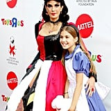 Teri Hatcher and Her Daughter, Emerson, as the Queen of Hearts and Alice in Wonderland