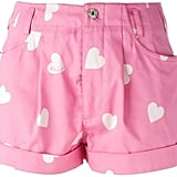 Moschino heart print shorts (£336)