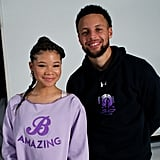 Storm Reid and Steph Curry's Curry 7 Shoe Collab
