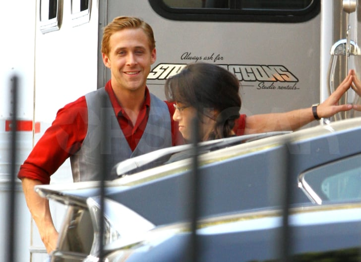 Ryan Gosling shoots Gangster Squad.