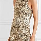 Alexander Wang Leopard Print Leopard-Print Denim Mini Dress