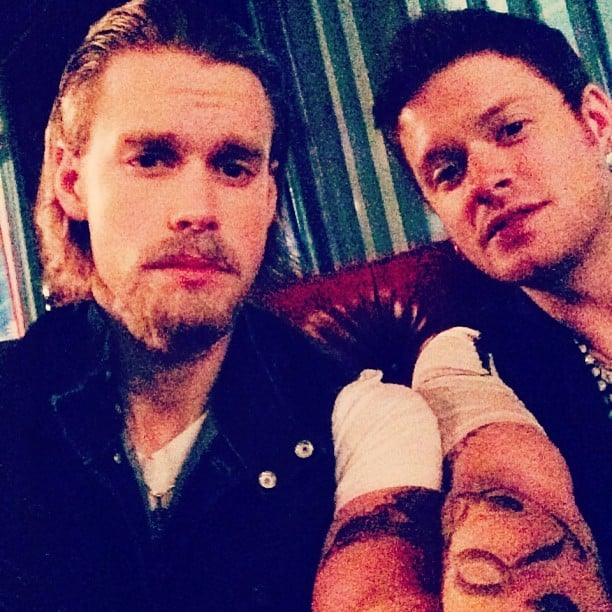 Glee's Chord Overstreet went with a Sons of Anarchy look, dressing up as Charlie Hunnam's character. Source: Instagram user chordover