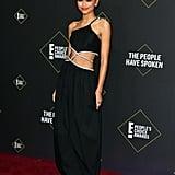 Zendaya's Black Midi Dress Has Brilliantly Placed Cutouts