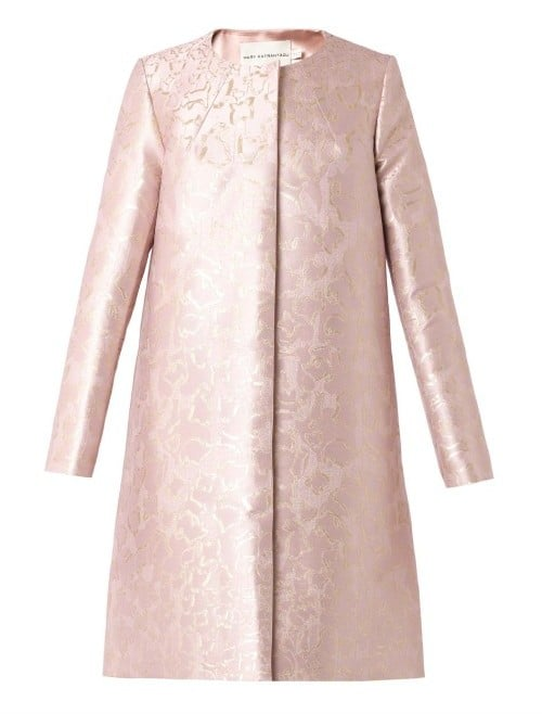 91adc37c057 Mary Katrantzou JQ Cookie-Jacquard A-Line Coat