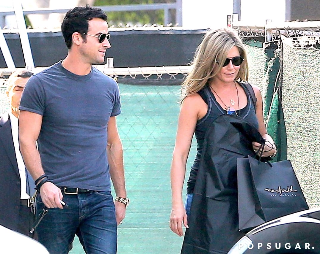 Justin Spends the Weekend With Jen Before Suiting Up For His New Gig