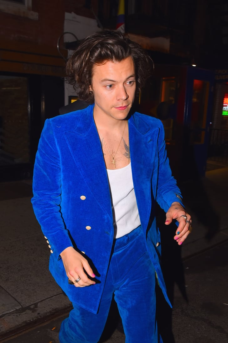 He S Rarely Without Nail Polish Harry Styles Defying Gender Norms Popsugar Fashion Photo 9