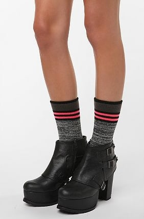 Urban Outfitters Pop Stripe Marled Boot Sock ($14)
