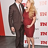 Jessica Simpson laughed with Eric Johnson in NYC.