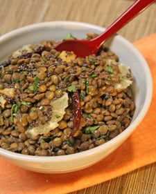 Madhur's Green Lentils With Lemon Slices