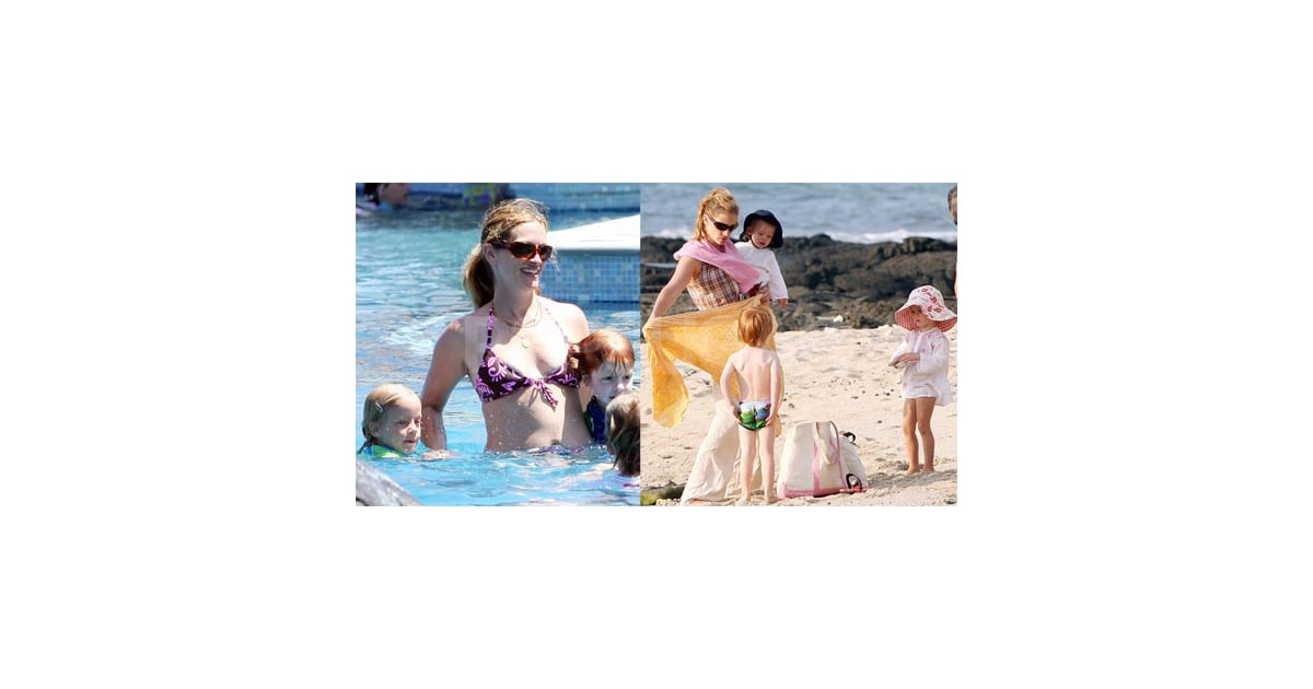 Photos of Julia Roberts in a Bikini With Phinnaes Moder, Hazel Moder ...