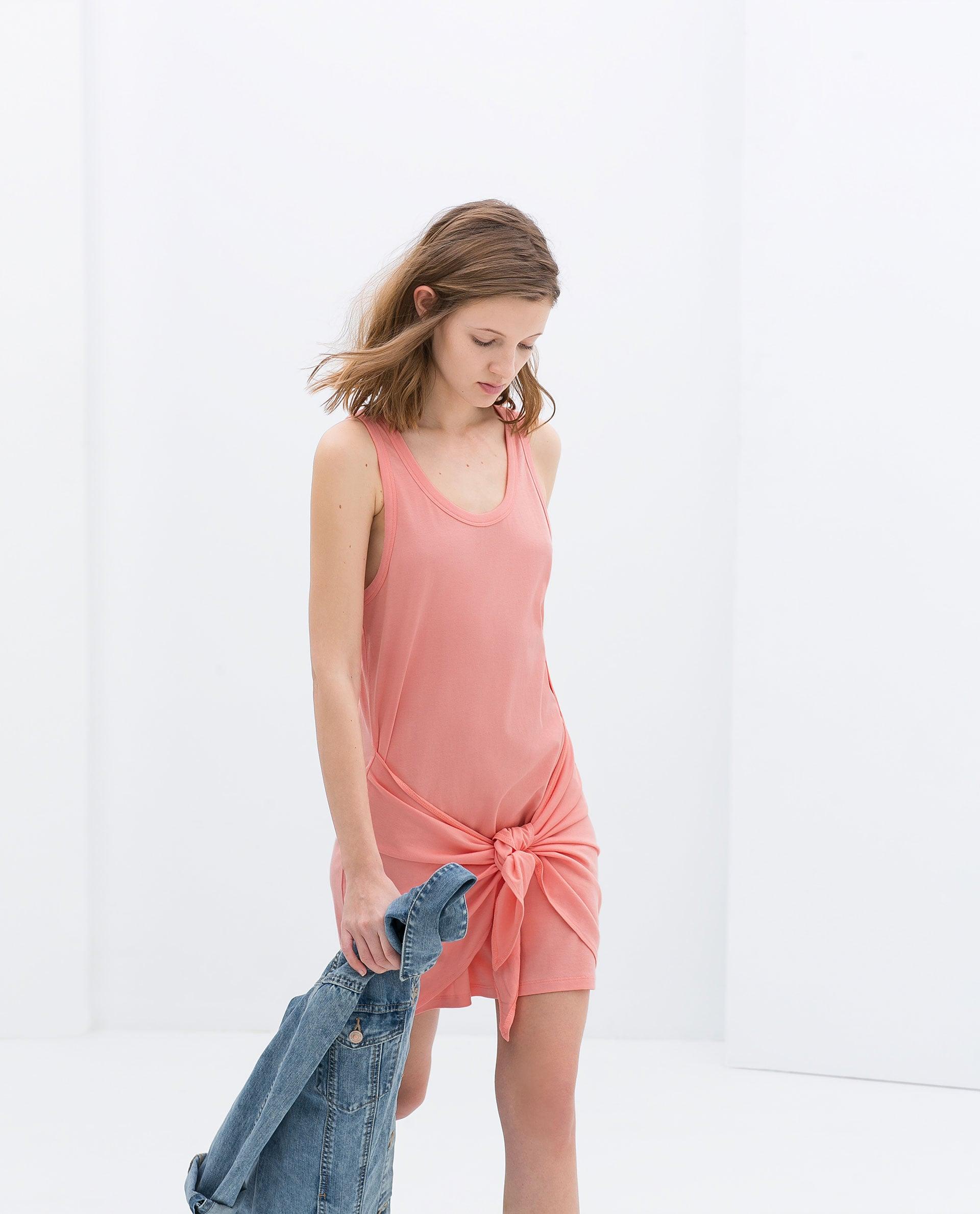 Zara Dress With Knot Detail