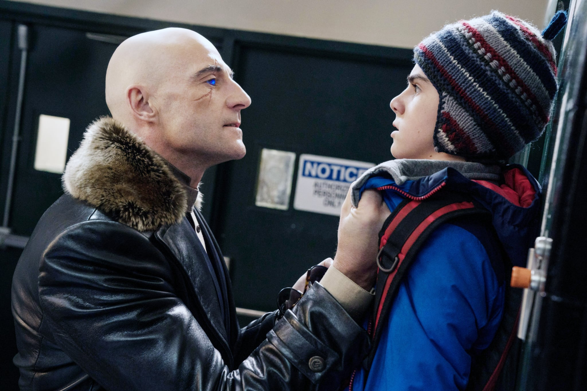 SHAZAM!, from left: Mark Strong, Jack Dylan Grazer, 2019. ph: Steve Wilkie /  Warner Brothers / courtesy Everett Collection