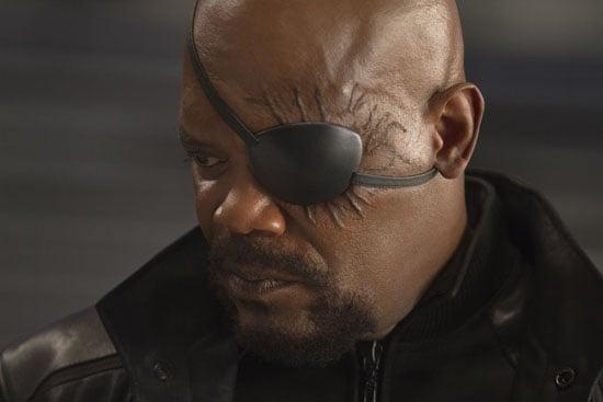 Samuel L. Jackson as Nick Fury in The Avengers.  Photo courtesy of Disney