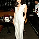 Attending the 2016 Glamour Women of the Year dinner in a sparkly jumpsuit.