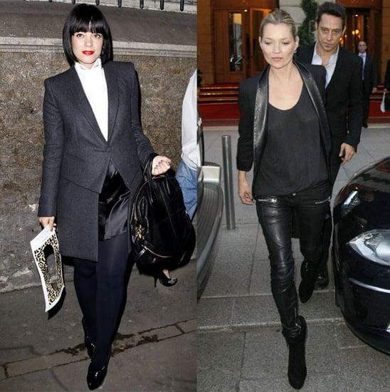 Photos de Kate Moss, Lily Allen, Stephen Dorff et d'autres stars a la Fashion Week de Paris printemps 2011