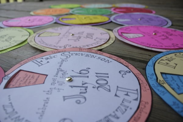 Wedding Program Wheel