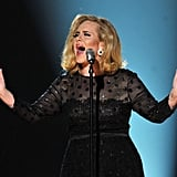 Adele sang her heart out for the star-studded crowd.