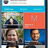 New Contact Favorites view in Android L.