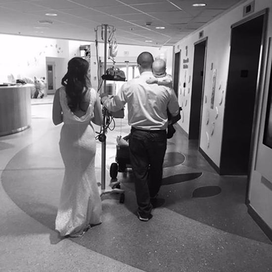 Parents Carrying Son With Cancer After Hospital Wedding