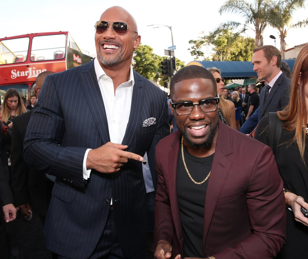 Dwayne Johnson's Comment on Kevin Hart's Shirtless Photo