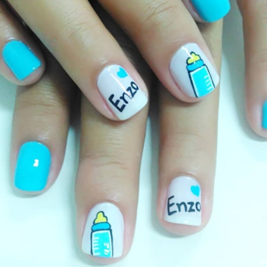Gender Reveal Nail Art Ideas