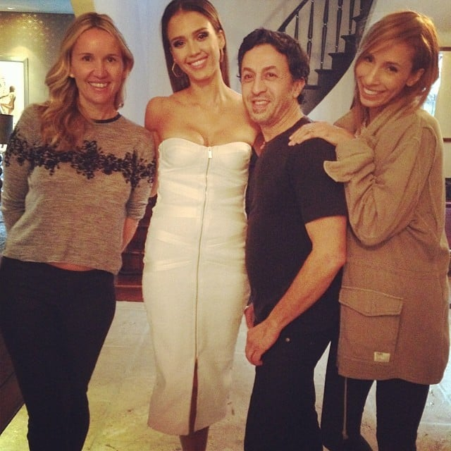 "Jessica Alba thanked her glam squad for ""werking"" their magic. Source: Instagram user jessicaalba"