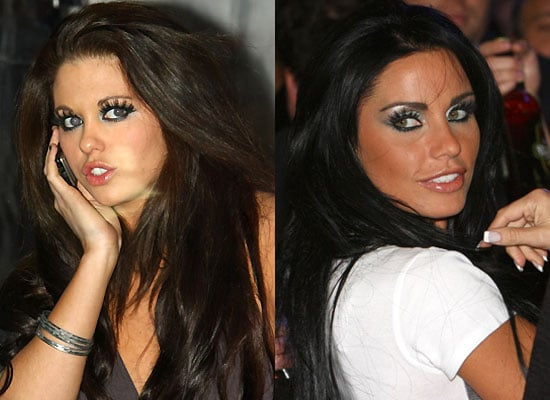 Katie Price and Bianca Gascoigne at the Blue Inc. Store Launch