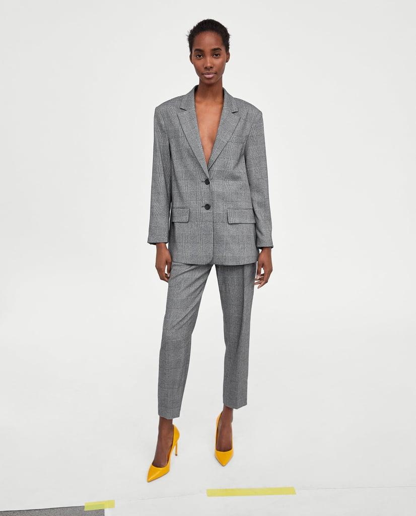 Zara Checked Suit