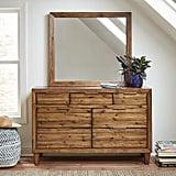 Stone & Beam Bateman Casual Rustic Wood Bedroom Dresser