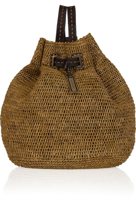 Michael Kors Santorini Raffia and Leather Backpack ($695)
