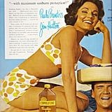"""Wear Coppertone tanning lotion, since, after all, """"nothing flatters you like a beautiful tan."""""""