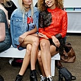 Jessica Hart and Izzy Bizu at House of Holland