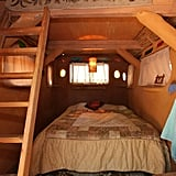 The cozy quarters comfortably sleep two, and guests can enjoy sunlight streaming through stained glass windows while listening to the sounds of nature outside — all for just $120 a night.