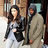 In March 2014, Kim Kardashian and Kanye West were seen in Tribeca, NYC.