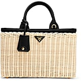 Take the trend to work on this Prada Midollino large leather-trimmed wicker tote ($1,600).
