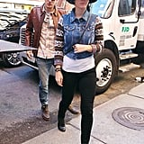 Katy Perry and John Mayer kept it casual as they headed out for lunch.