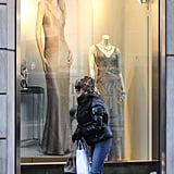 Goldie Hawn checked out one of her daughter Kate Hudson's Ann Taylor window displays in NYC. Photos courtesy 310Pix