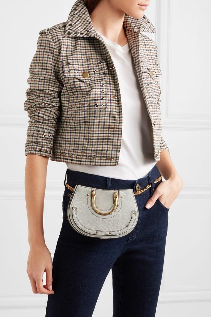 edde52f93 Chloé Pixie Mini Suede And Textured-Leather Belt Bag   Best Purses ...