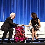 Amal Joined Her Father-in-Law on Stage